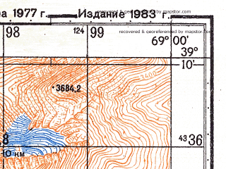 Reduced fragment of topographic map ru--gs--050k--j42-030-4--N039-10_E068-45--N039-00_E069-00