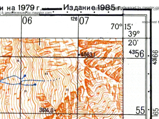 Reduced fragment of topographic map ru--gs--050k--j42-033-1--N039-20_E070-00--N039-10_E070-15