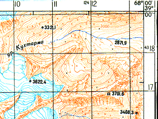 Reduced fragment of topographic map ru--gs--050k--j42-040-2--N039-00_E067-45--N038-50_E068-00