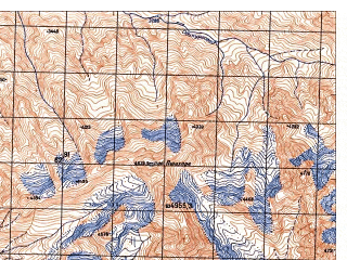 Reduced fragment of topographic map ru--gs--050k--j42-059-3--N038-30_E071-00--N038-20_E071-15