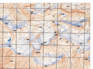 Reduced fragment of topographic map ru--gs--050k--j42-070-3--N038-10_E070-30--N038-00_E070-45