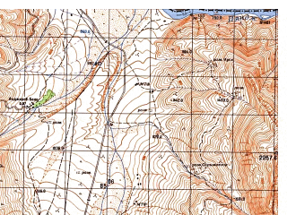 Reduced fragment of topographic map ru--gs--050k--j42-081-3--N037-50_E070-00--N037-40_E070-15