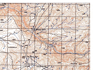 Reduced fragment of topographic map ru--gs--050k--j42-081-4--N037-50_E070-15--N037-40_E070-30