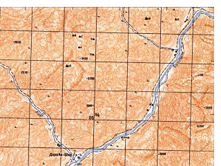 Reduced fragment of topographic map ru--gs--050k--j42-083-1--N038-00_E071-00--N037-50_E071-15