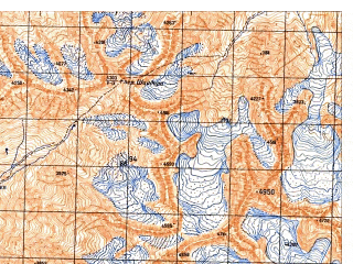 Reduced fragment of topographic map ru--gs--050k--j42-083-3--N037-50_E071-00--N037-40_E071-15