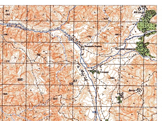 Reduced fragment of topographic map ru--gs--050k--j42-093-3--N037-30_E070-00--N037-20_E070-15