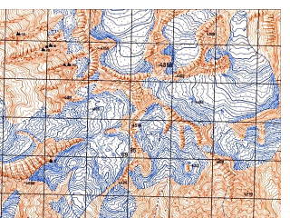 Reduced fragment of topographic map ru--gs--050k--j42-095-1--N037-40_E071-00--N037-30_E071-15