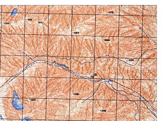 Reduced fragment of topographic map ru--gs--050k--j42-095-2--N037-40_E071-15--N037-30_E071-30