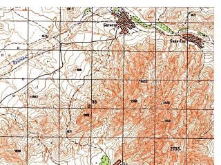 Reduced fragment of topographic map ru--gs--050k--j42-104-4--N037-10_E069-45--N037-00_E070-00