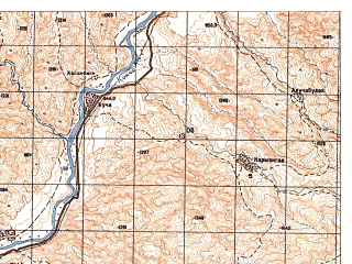 Reduced fragment of topographic map ru--gs--050k--j42-105-3--N037-10_E070-00--N037-00_E070-15