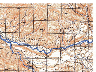 Reduced fragment of topographic map ru--gs--050k--j42-106-2--N037-20_E070-45--N037-10_E071-00