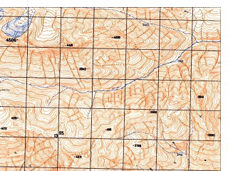 Reduced fragment of topographic map ru--gs--050k--j42-107-3--N037-10_E071-00--N037-00_E071-15