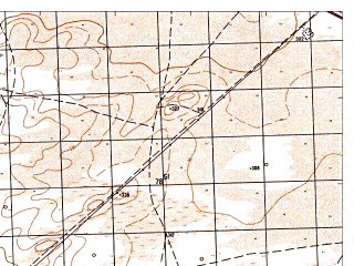 Reduced fragment of topographic map ru--gs--050k--j42-109-3--N036-50_E066-00--N036-40_E066-15