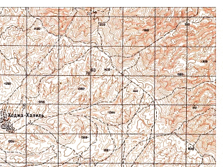 Reduced fragment of topographic map ru--gs--050k--j42-116-3--N036-50_E069-30--N036-40_E069-45