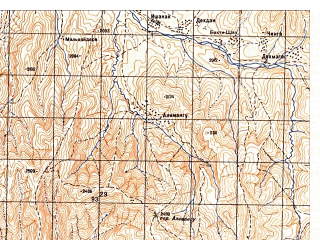 Reduced fragment of topographic map ru--gs--050k--j42-117-2--N037-00_E070-15--N036-50_E070-30