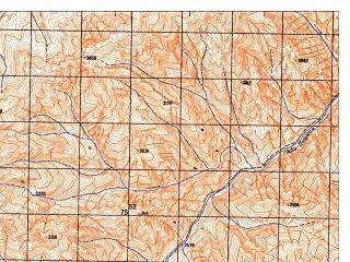 Reduced fragment of topographic map ru--gs--050k--j42-118-3--N036-50_E070-30--N036-40_E070-45