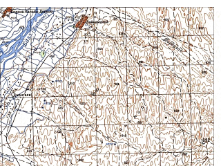 Reduced fragment of topographic map ru--gs--050k--j42-122-4--N036-30_E066-45--N036-20_E067-00