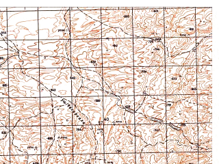 Reduced fragment of topographic map ru--gs--050k--j42-123-1--N036-40_E067-00--N036-30_E067-15