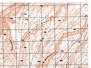 Reduced fragment of topographic map ru--gs--050k--j42-123-4--N036-30_E067-15--N036-20_E067-30; towns and cities Jan Bulaq