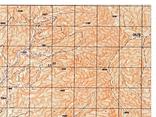 Reduced fragment of topographic map ru--gs--050k--j42-128-2--N036-40_E069-45--N036-30_E070-00