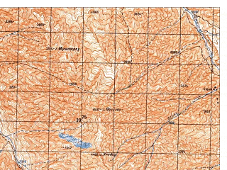 Reduced fragment of topographic map ru--gs--050k--j42-130-4--N036-30_E070-45--N036-20_E071-00