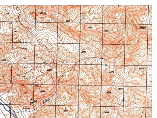 Reduced fragment of topographic map ru--gs--050k--j42-131-1--N036-40_E071-00--N036-30_E071-15