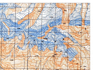 Reduced fragment of topographic map ru--gs--050k--j42-131-3--N036-30_E071-00--N036-20_E071-15
