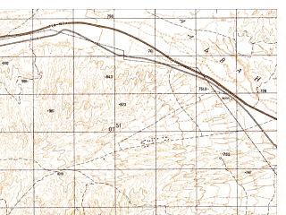 Reduced fragment of topographic map ru--gs--050k--j42-137-4--N036-10_E068-15--N036-00_E068-30; towns and cities Robatak