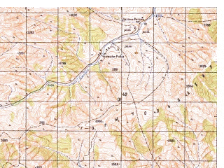 Reduced fragment of topographic map ru--gs--050k--j42-139-4--N036-10_E069-15--N036-00_E069-30