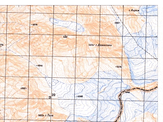 Reduced fragment of topographic map ru--gs--050k--j42-143-2--N036-20_E071-15--N036-10_E071-30