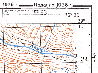 Reduced fragment of topographic map ru--gs--050k--j43-025-4--N039-10_E072-15--N039-00_E072-30