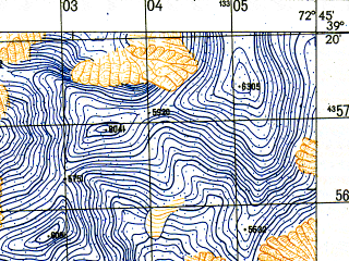 Reduced fragment of topographic map ru--gs--050k--j43-026-1--N039-20_E072-30--N039-10_E072-45