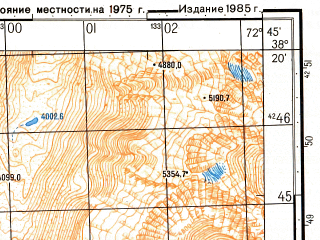 Reduced fragment of topographic map ru--gs--050k--j43-062-1--(1985)--N038-20_E072-30--N038-10_E072-45