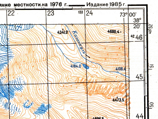 Reduced fragment of topographic map ru--gs--050k--j43-062-2--(1985)--N038-20_E072-45--N038-10_E073-00
