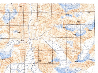 Reduced fragment of topographic map ru--gs--050k--j43-099-2--N037-20_E073-15--N037-10_E073-30