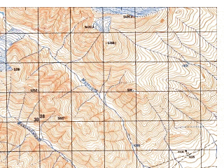 Reduced fragment of topographic map ru--gs--050k--j43-101-1--N037-20_E074-00--N037-10_E074-15