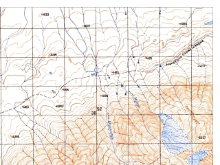 Reduced fragment of topographic map ru--gs--050k--j43-101-2--N037-20_E074-15--N037-10_E074-30
