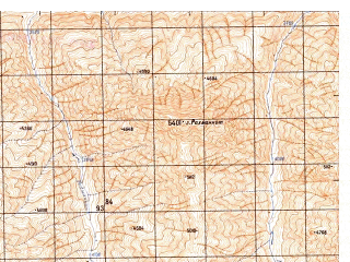 Reduced fragment of topographic map ru--gs--050k--j43-112-1--N037-00_E073-30--N036-50_E073-45