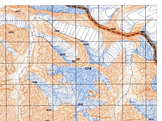 Reduced fragment of topographic map ru--gs--050k--j43-113-2--N037-00_E074-15--N036-50_E074-30