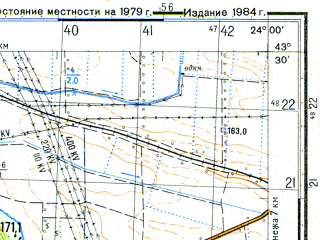 Reduced fragment of topographic map ru--gs--050k--k34-024-4--N043-30_E023-45--N043-20_E024-00; towns and cities Bela Slatina, Borovan