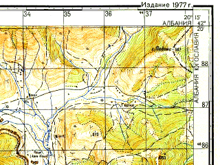 Reduced fragment of topographic map ru--gs--050k--k34-065-1--N042-20_E020-00--N042-10_E020-15