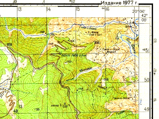 Reduced fragment of topographic map ru--gs--050k--k34-076-2--N042-00_E019-45--N041-50_E020-00