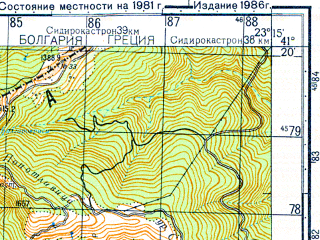 Reduced fragment of topographic map ru--gs--050k--k34-107-1--N041-20_E023-00--N041-10_E023-15