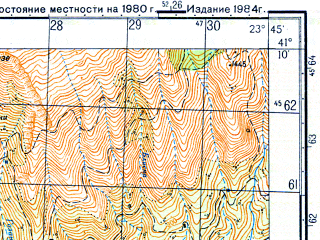 Reduced fragment of topographic map ru--gs--050k--k34-108-3--N041-10_E023-30--N041-00_E023-45; towns and cities Serrai