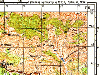 Reduced fragment of topographic map ru--gs--050k--k34-136-3--N040-10_E019-30--N040-00_E019-45