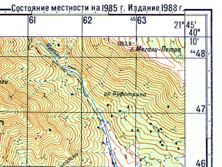 Reduced fragment of topographic map ru--gs--050k--k34-140-3--N040-10_E021-30--N040-00_E021-45