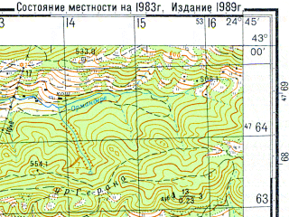 Reduced fragment of topographic map ru--gs--050k--k35-038-1--N043-00_E024-30--N042-50_E024-45; towns and cities Troyan