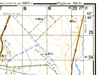 Reduced fragment of topographic map ru--gs--050k--k35-055-1--N042-40_E027-00--N042-30_E027-15