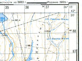 Reduced fragment of topographic map ru--gs--050k--k35-065-1--N042-20_E026-00--N042-10_E026-15; towns and cities Novoselets