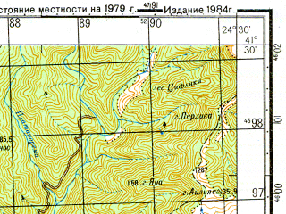 Reduced fragment of topographic map ru--gs--050k--k35-085-4--N041-30_E024-15--N041-20_E024-30